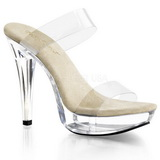 Bézs 14 cm Pleaser COCKTAIL-502 Platform Papucs