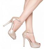 Bézs Lakk 12 cm LUMINA-45 Körömcipők magas cipők