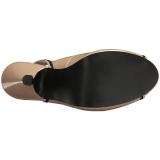 Bézs Lakkbőr 11,5 cm PINUP-10 nagy méretek szandál női