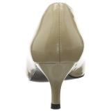 Bézs Lakkbőr 6,5 cm KITTEN-01 nagy méretek körömcipők