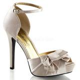 Bézs Szatén 12 cm LUMINA-36 Körömcipők magas cipők