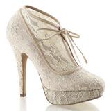 Bézs Szatén 13 cm LOLITA-32 Körömcipők magas cipők