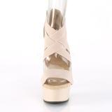 Bézs rugalmas szalag 15 cm DELIGHT-669 pleaser cipők magassarkú