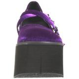Bíbor Bársony 11,5 cm KERA-10 Platform Gótikus Cipők