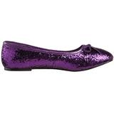 Bíbor STAR-16G Csillámos Lapos Balerina Cipők Női