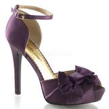 Bíbor Szatén 12 cm LUMINA-36 Körömcipők magas cipők