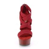Burgundia rugalmas szalag 15 cm DELIGHT-669 pleaser cipők magassarkú