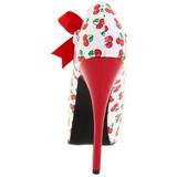 Cseresznye Minta Fehér 14,5 cm TEEZE-25-3 női cipők a magassarkű