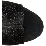 Csillámos 15 cm DELIGHT-1018MMG nyitott orrú magassarkű bokacsizma
