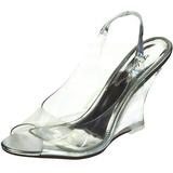Ezüst 10,5 cm LOVELY-450 Női Éksarkú Szandál