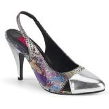 Ezüst 10 cm DREAM-405 transzvesztita magassarkű cipő