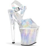 Ezüst 20 cm XTREME-808N-CRHM Hologram platform magassarkű női