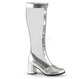 Ezüst 8,5 cm GOGO-307 női halo csizma a magassarkű