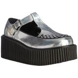 Ezüst CREEPER-214 Platform Creepers Cipők Női
