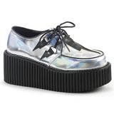 Ezüst CREEPER-218 Platform Creepers Cipők Női