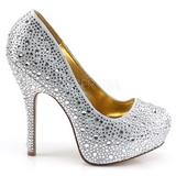 Ezüst Csillogó Kövekkel 13,5 cm FELICITY-20 női cipők magassarkű