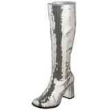 Ezüst Flitterekkel 8 cm SPECTACUL-300SQ Női Csizma