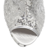 Ezüst Flitterekkel Bokacsizma női 15,5 cm BLONDIE-R-1008