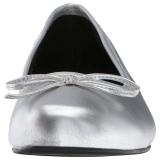 Ezüst Műbőr ANNA-01 nagy méretek balerínky cipők
