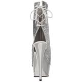 Ezüst Platform Bokacsizma női 15 cm Pleaser DELIGHT-1018G