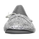 Ezüst STAR-16G Csillámos Balerínky Cipők