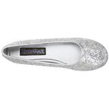 Ezüst STAR-16G Csillámos Lapos Balerina Cipők Női