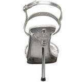 Ezüst Strasszköves 11,5 cm CHIC-17 Női Szandál Magas Cipők
