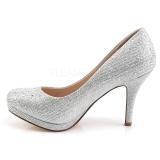 Ezüst Strasszköves 9 cm COVET-02 Körömcipők magas cipők