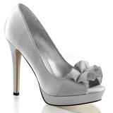 Ezüst Szatén 12 cm LUMINA-42 Körömcipők magas cipők