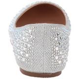 Ezüst TREAT-06 Strasszköves Lapos Balerina Cipők Női
