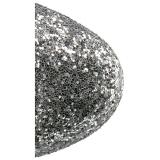 Ezüst csillámos 18 cm ADORE-1020G női platform bokacsizma