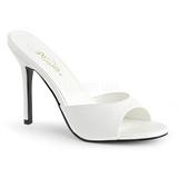 Fehér 10 cm CLASSIQUE-01 alacsony sarkú női papucs