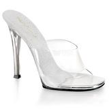 Fehér 11,5 cm FABULICIOUS GALA-01 alacsony sarkú női papucs