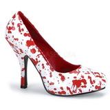 Fehér 13 cm BLOODY-12 női cipők a magassarkű