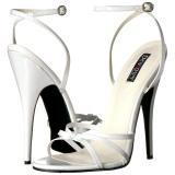 Fehér 15 cm Devious DOMINA-108 női magassarkú szandál