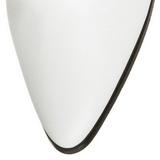 Fehér 7 cm VICTORIAN-120 Női Fűzős Bokacsizma