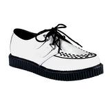 Fehér Bőr 2,5 cm CREEPER-602 Platform Creepers Cipők Férfi