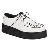 Fehér Bőr 5 cm CREEPER-402 Platform Creepers Cipők Férfi