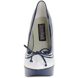Fehér Kék 13 cm LOLITA-13 Körömcipők magas cipők