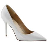 Fehér Lakk 10 cm CLASSIQUE-20 Körömcipők Tűsarkú Magas Cipők