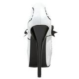 Fehér Lakk 14,5 cm Burlesque BORDELLO TEEZE-01 Platform Körömcipők