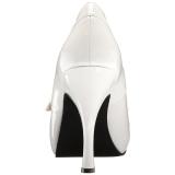 Fehér Lakkbőr 11,5 cm PINUP-01 nagy méretek körömcipők