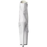 Fehér Lakkbőr 20 cm FLAMINGO-1021 női platform bokacsizma