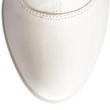 Fehér Matt 11 cm Funtasma EXOTICA-2000 Platform Női Csizma