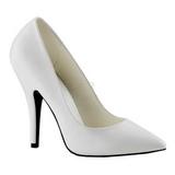 Fehér Matt 13 cm SEDUCE-420 Női Körömcipők