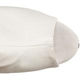 Fehér Matt 15 cm DELIGHT-1019 női rojtos bokacsizma a magassarkű