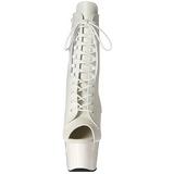 Fehér Műbőr 18 cm ADORE-1021 női platform bokacsizma