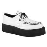 Fehér Műbőr V-CREEPER-502 Platform Creepers Cipők Férfi