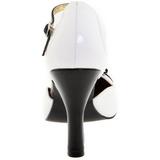 Fehér Szarvasbőr 10 cm SMITTEN-10 Rockabilly Női Körömcipők