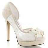 Fehér Szatén 12 cm LUMINA-33 Körömcipők magas cipők